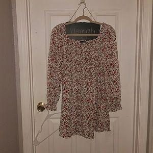 Floral off the shoulder spring/fall dress